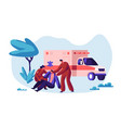 paramedic profession medical character rescue vector image