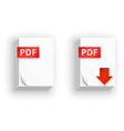 PDF paper sheet icons vector image vector image