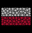poland flag pattern of abstract flower icons vector image