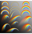 Rainbows in different shape realistic set EPS 10 vector image vector image