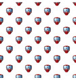 red mask for paintball pattern vector image vector image