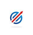 round arrow target logo vector image