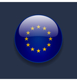 round icon with flag europe vector image vector image