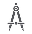 school compass glyph icon architect and drafting vector image vector image