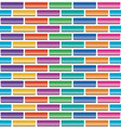 seamless pattern colorful brick wall vector image