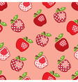 Seamless pattern with patchwork apples vector image vector image
