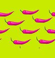 Seamless pattern with pink chilli decorative