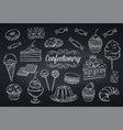 set confectionery and sweets icons vector image