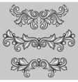 Set of baroque ornamental antique silver scrolls vector image vector image