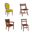 simple chair furniture logo set design vector image