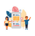 social media in flat style vector image vector image