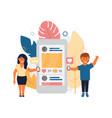 social media in flat style vector image