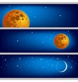 Space with the moon background vector image