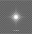 star light flash bright sparkle rays and vector image vector image