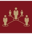 The teamwork icon Leadership and connection vector image