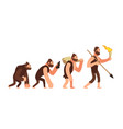theory of human evolution man development stages vector image vector image
