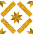 tile decorative gold floor tiles pattern vector image vector image