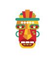 traditional colorful tribal ritual mask vector image vector image