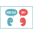 Two people with different shapes cloud talk for vector image vector image
