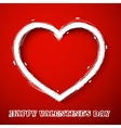 Valentines day draw heart vector image vector image