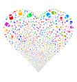 vial fireworks heart vector image vector image