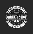 vintage barber shop logo and beauty spa salon vector image vector image