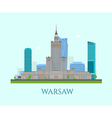 Warsaw business center vector image vector image