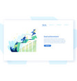 website template with people office workers vector image