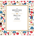 wedding invitation template wedding invitation vector image