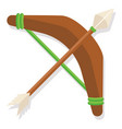 wooden bow flat vector image
