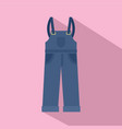 worker pants icon flat style vector image