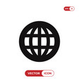 worldwide icon vector image