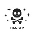 icon skull and bones sign of danger do not get vector image