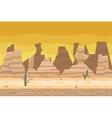 Seamless Desert Road Cactus Nature Concept Flat vector image