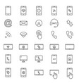 30 line mobile icons vector image vector image