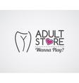adult store logo design cute sex shop badge