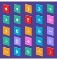Arrow flat icons vector image