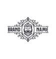 beard logo design template