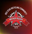 Bicylcling label vector image vector image