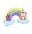 birthday animal cartoon vector image