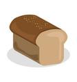 bread icon bakery nutrition vector image vector image