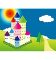 cartoon castle vector image vector image