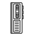 cassette dictaphone icon outline style vector image
