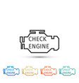 check engine icon isolated on white background vector image