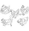 Chicken Set vector image vector image