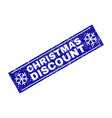 christmas discount grunge rectangle stamp seal vector image vector image