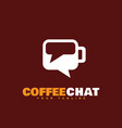 coffee chat logo vector image vector image