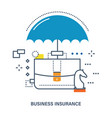 concept of business insurance deposit protection vector image vector image