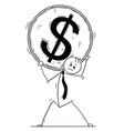 conceptual cartoon of businessman carry big vector image