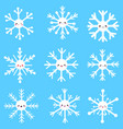 cute different snowflakes vector image vector image